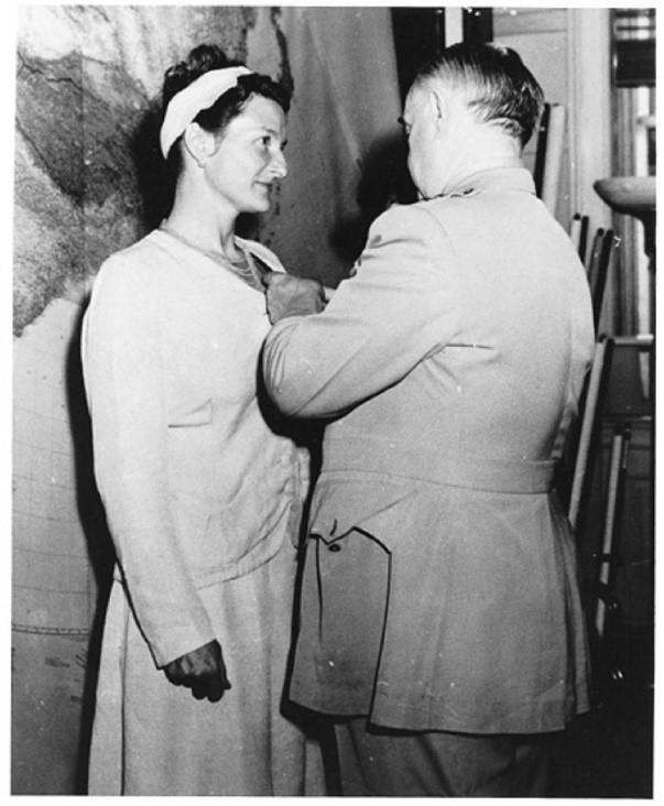 Virginia Hall, Receiving Medal