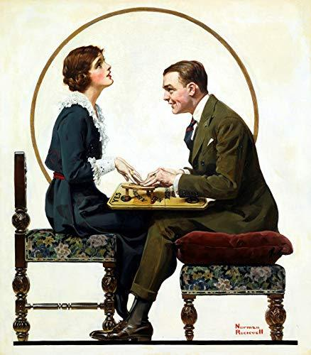Norman Rockwell Saturday Evening Post Ouija Couple