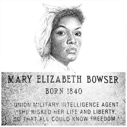 Drawing of Mary Elizabeth Bowser